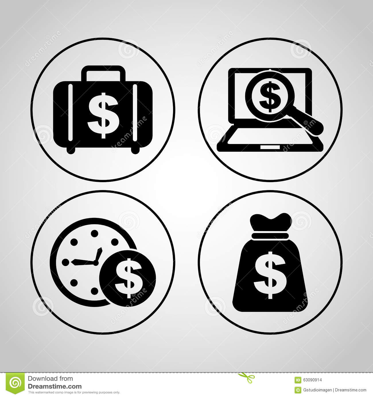 Download Conception De L'avant-projet D'argent Illustration de Vecteur - Illustration du laptop, dollar: 63090914