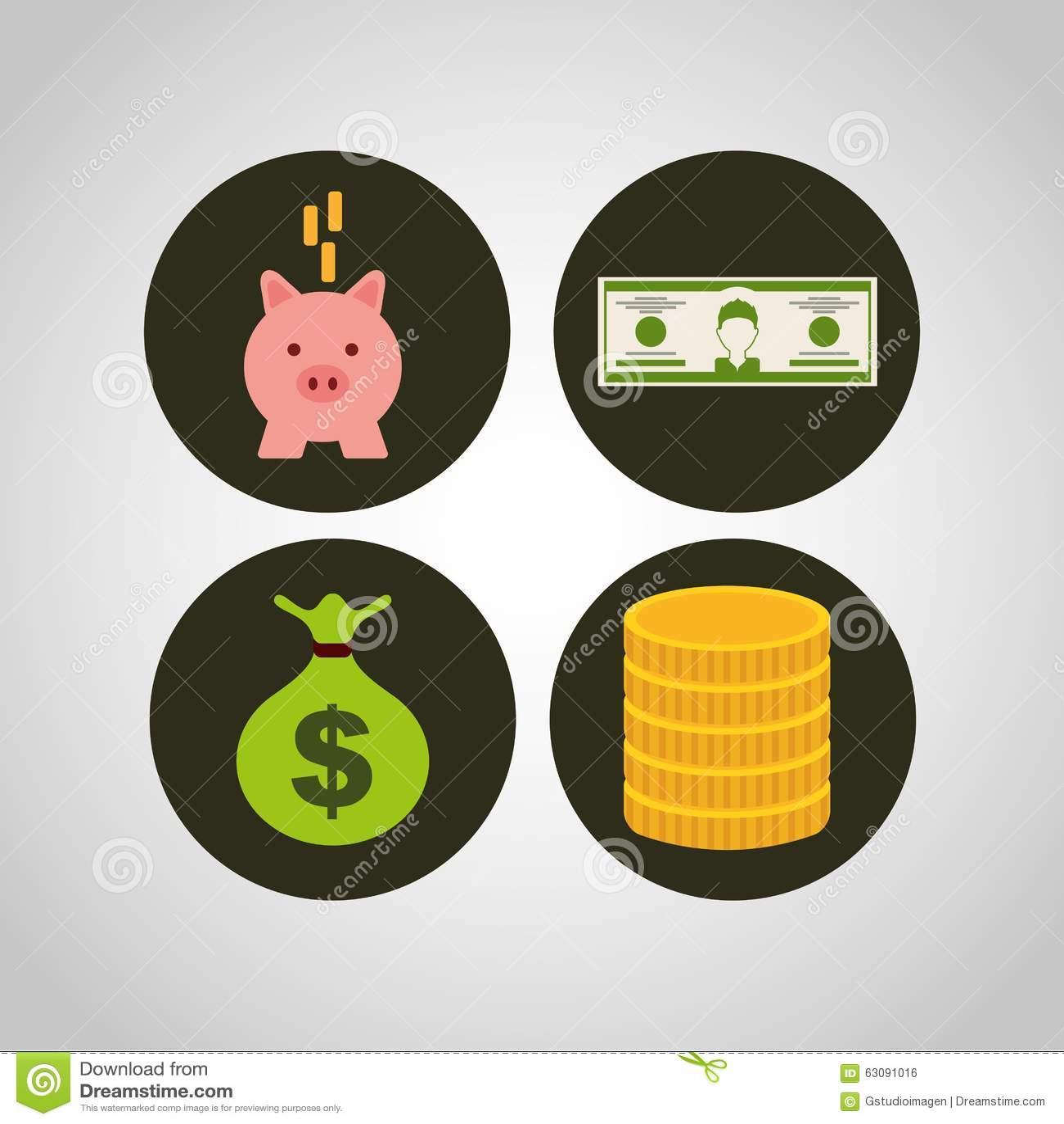Download Conception De L'avant-projet D'argent Illustration de Vecteur - Illustration du conceptuel, financier: 63091016
