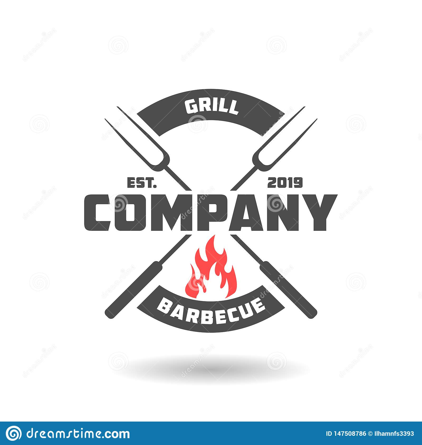 Conception de logo de barbecue