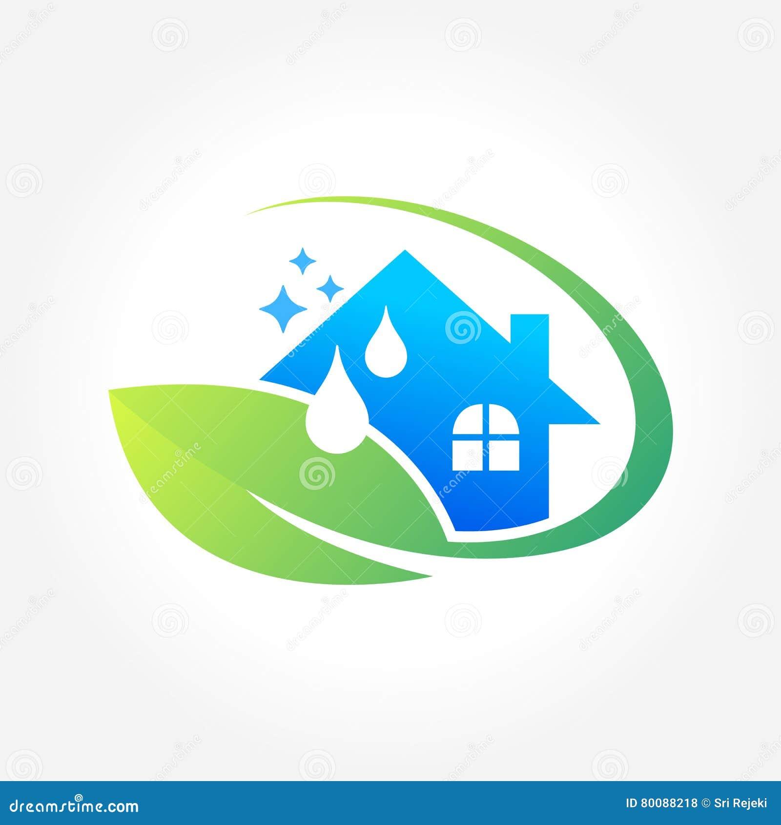 Conception de logo dentreprise de services de nettoyage concept écologique pour l