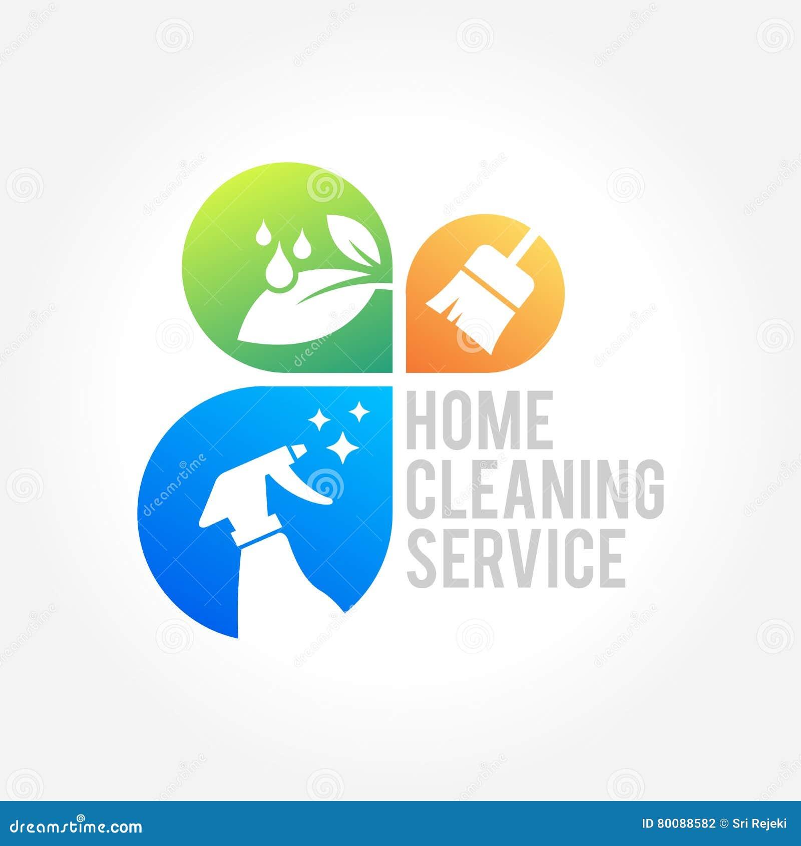 df0e216daa4f8 Conception de logo d entreprise de services de nettoyage, concept  écologique pour l intérieur,