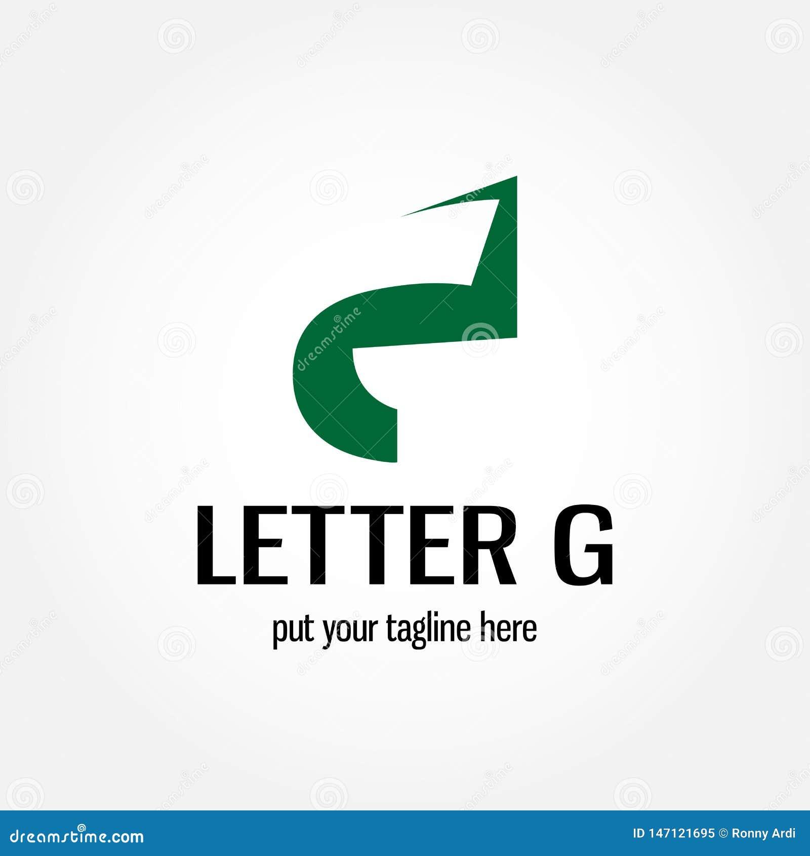 Conception de logo d illustration de la lettre G avec le style négatif de l espace