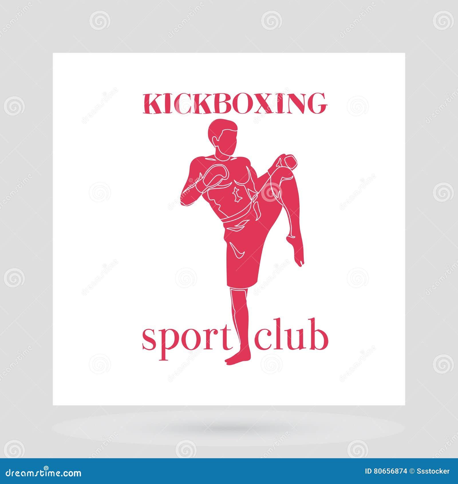 Conception de logo de club de combat de Kickboxing