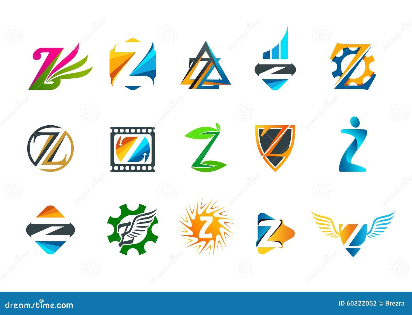 conception de logo de concept de symbole de la lettre z illustration de vecteur