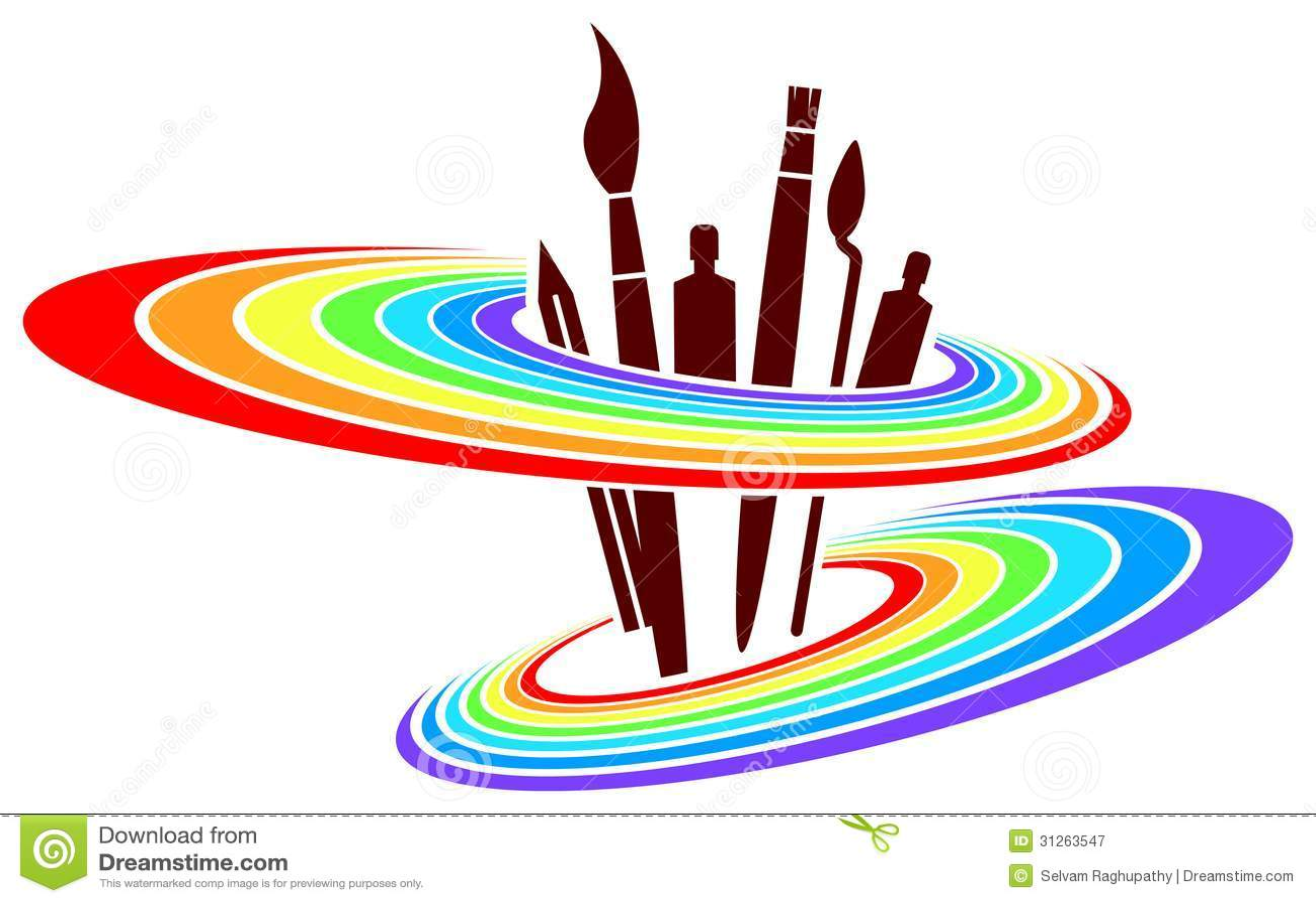 Conception De Logo De Peinture Photographie Stock Libre De