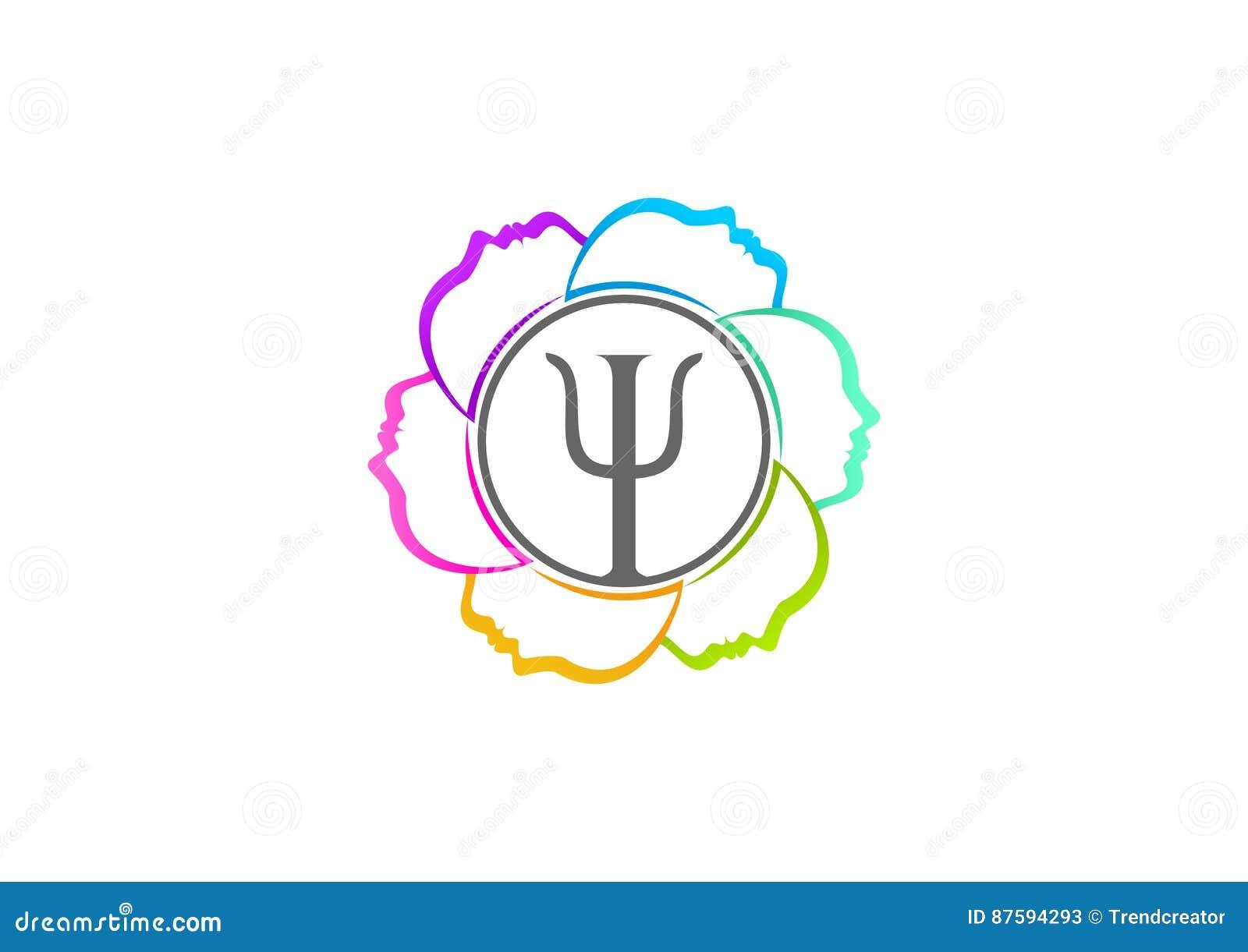 Conception De Logo De Psychologie Illustration de Vecteur ...
