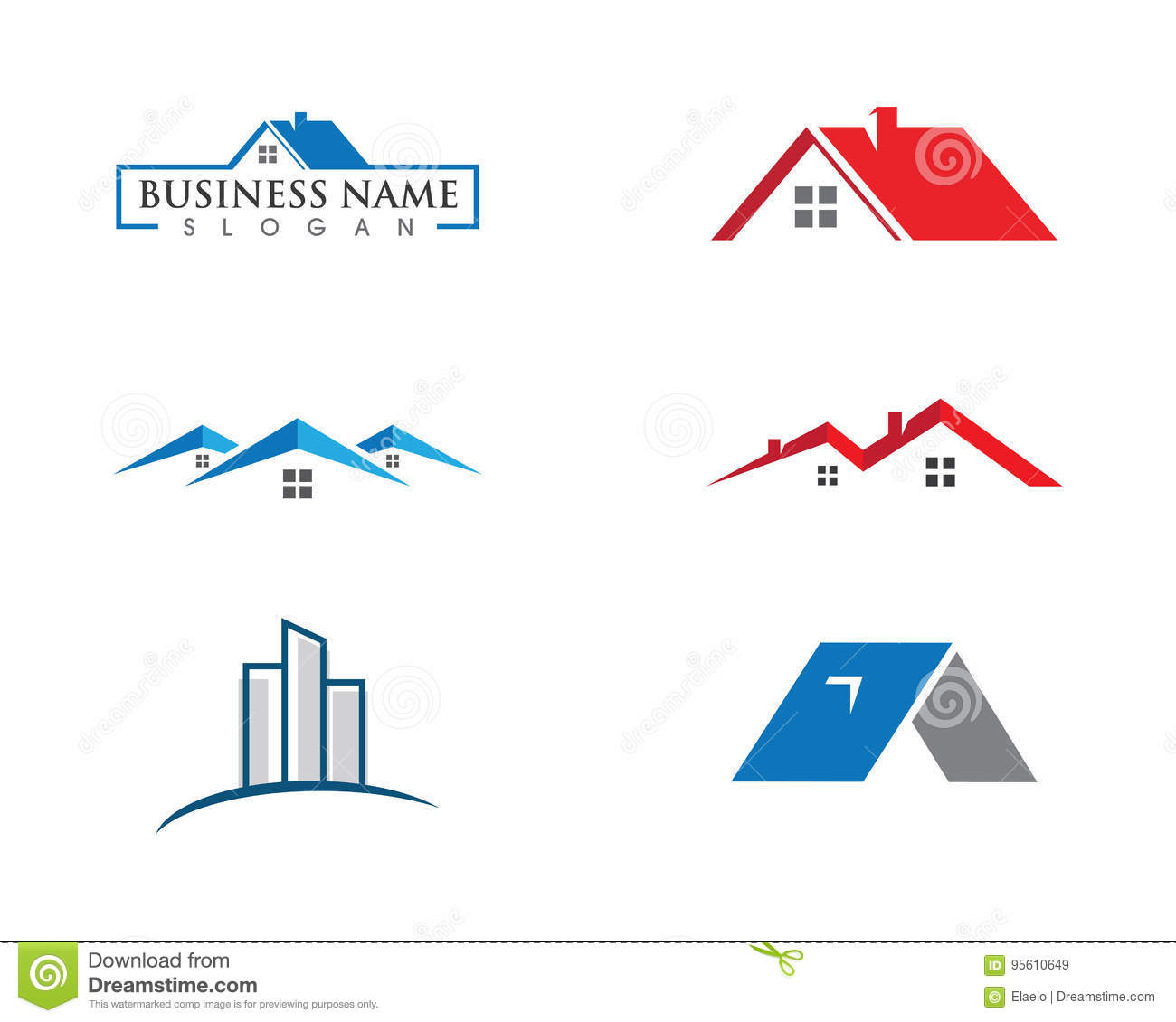 Conception de logo de Real Estate, de propriété et de construction