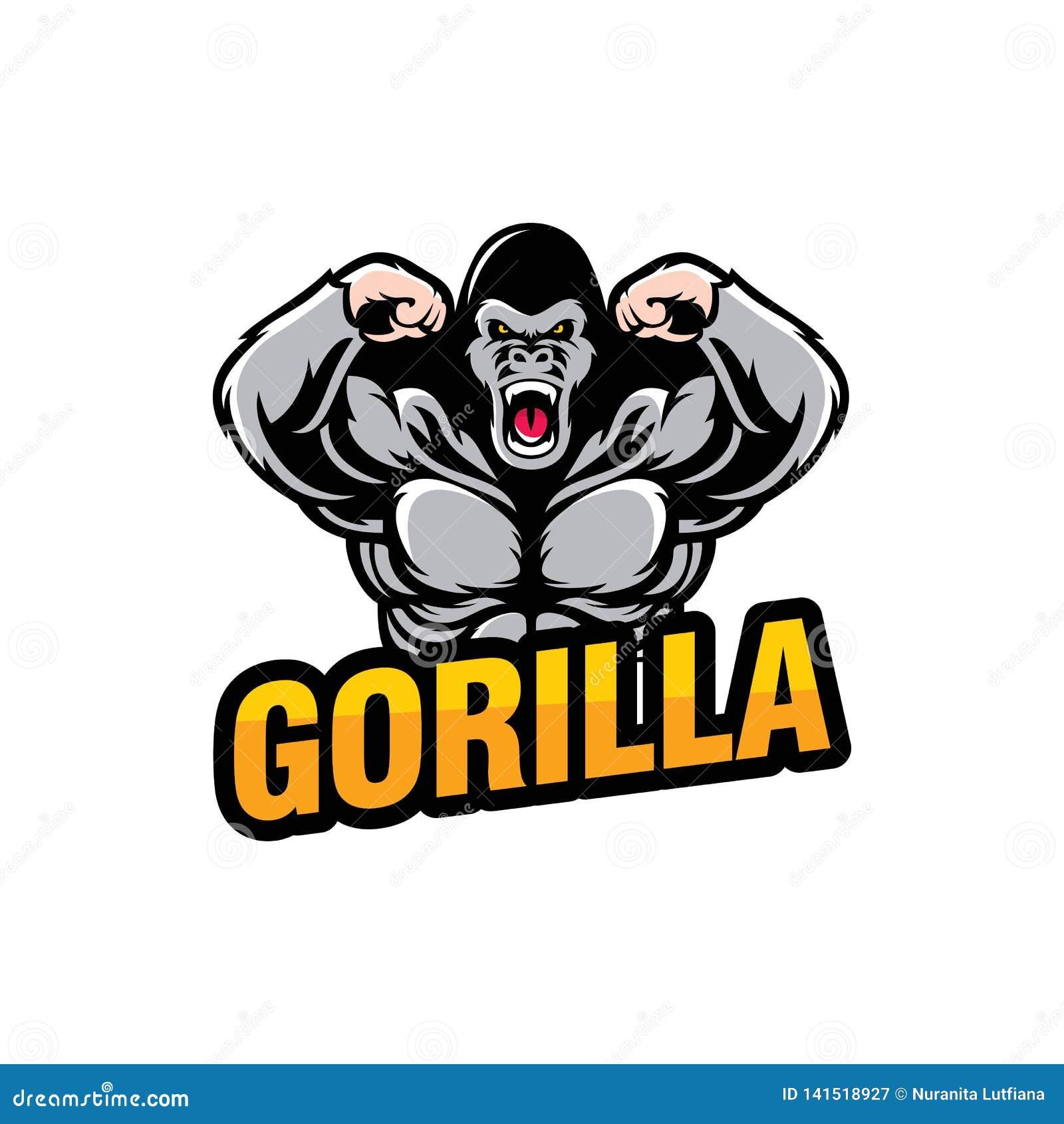 Conception de logo de gorille d isolement sur le fond blanc