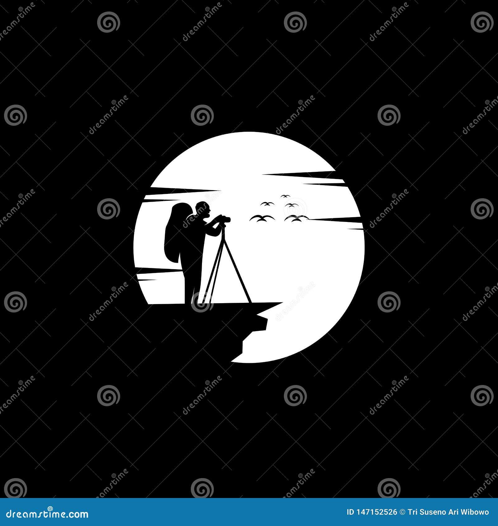 Conception de logo de photographie, vecteur, illustration
