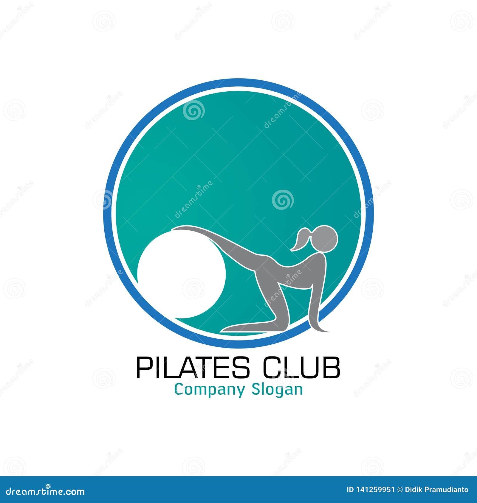 Conception de logo de Pilates