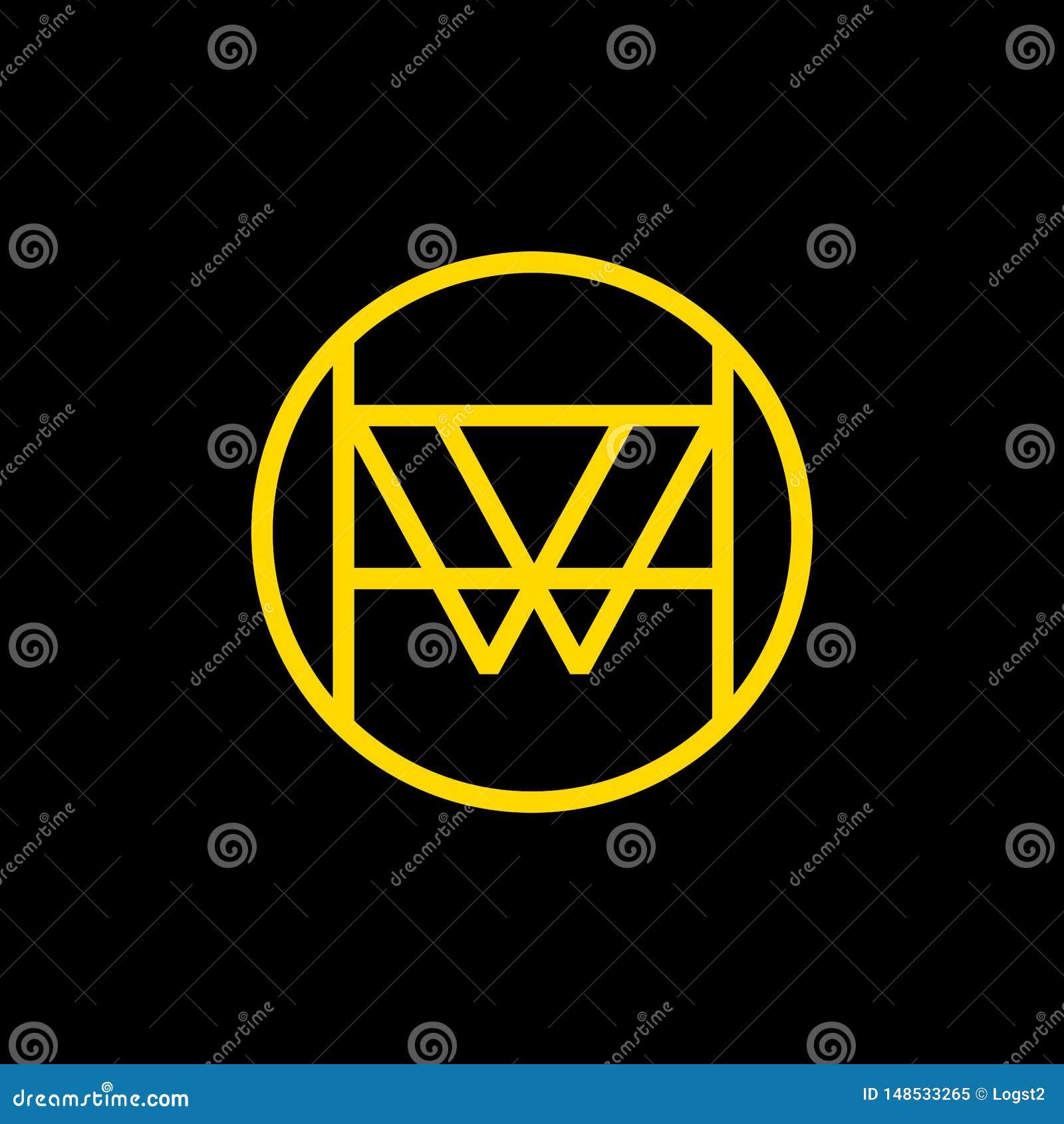 Conception de logo de vecteur de W Emblème linéaire de W