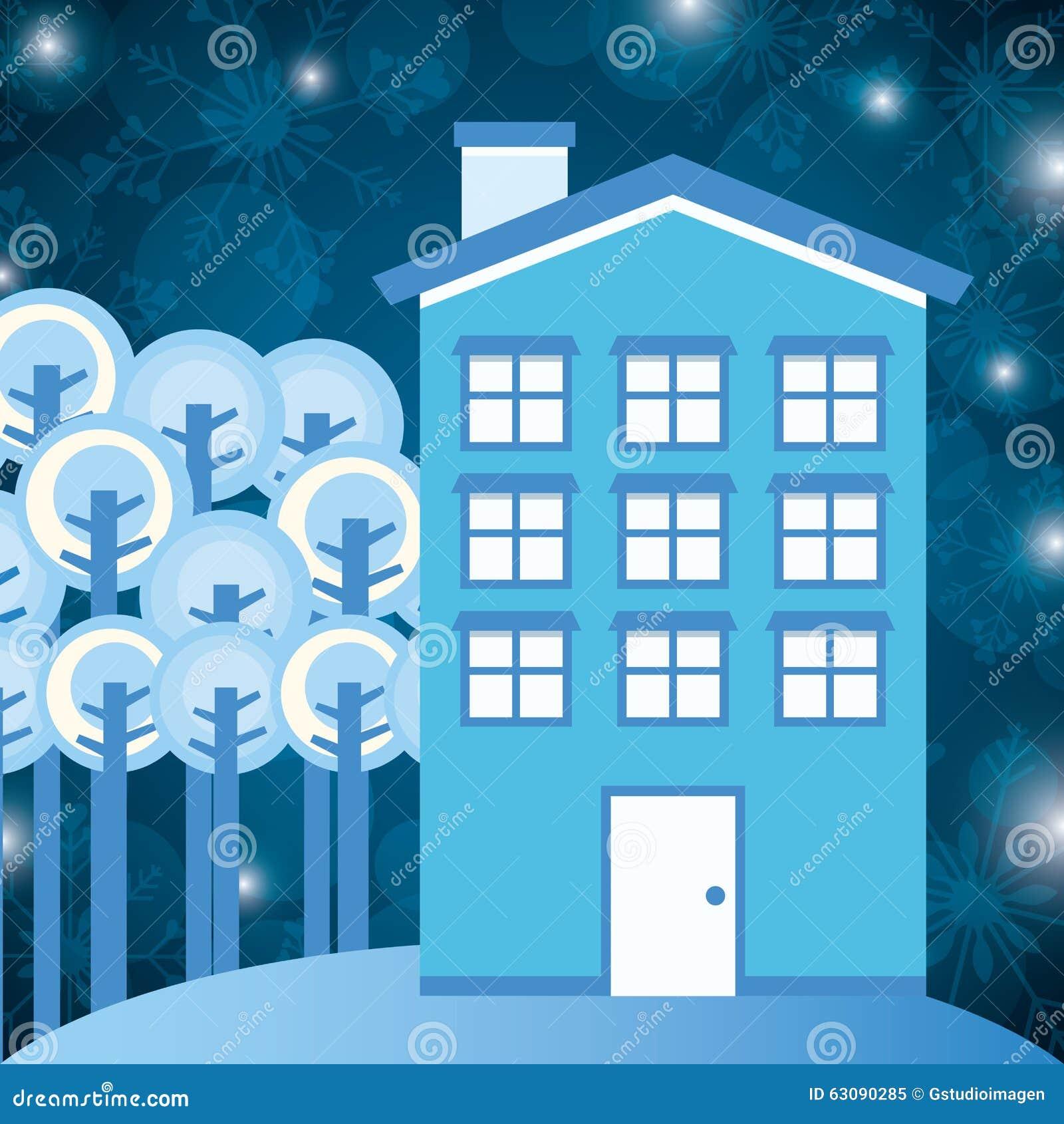Download Conception De Maisons D'hiver Illustration de Vecteur - Illustration du maisons, maison: 63090285
