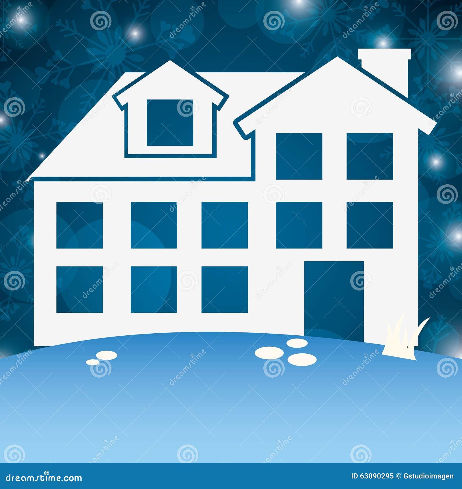 Download Conception De Maisons D'hiver Illustration de Vecteur - Illustration du structure, home: 63090295