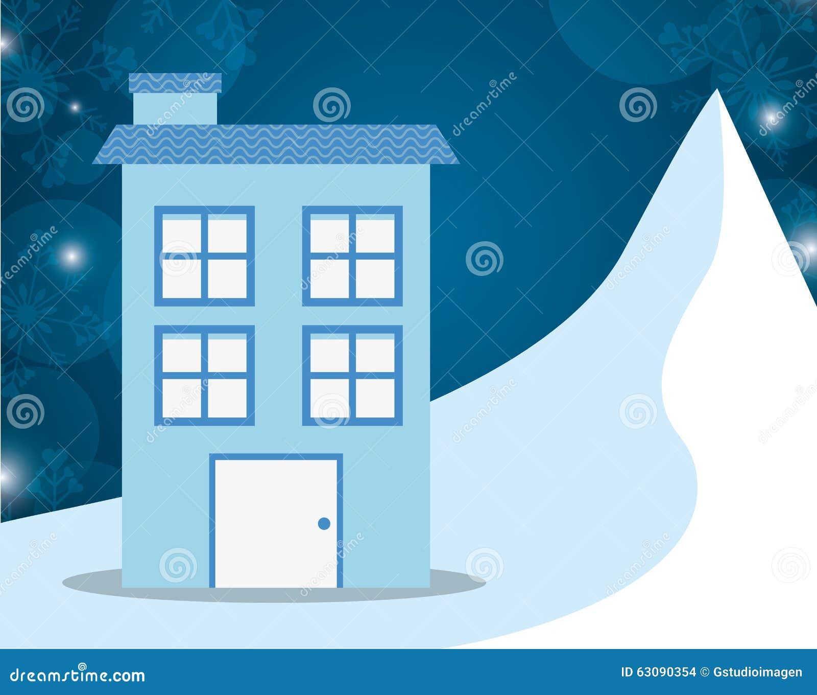 Download Conception De Maisons D'hiver Illustration Stock - Illustration du joyeux, vacances: 63090354