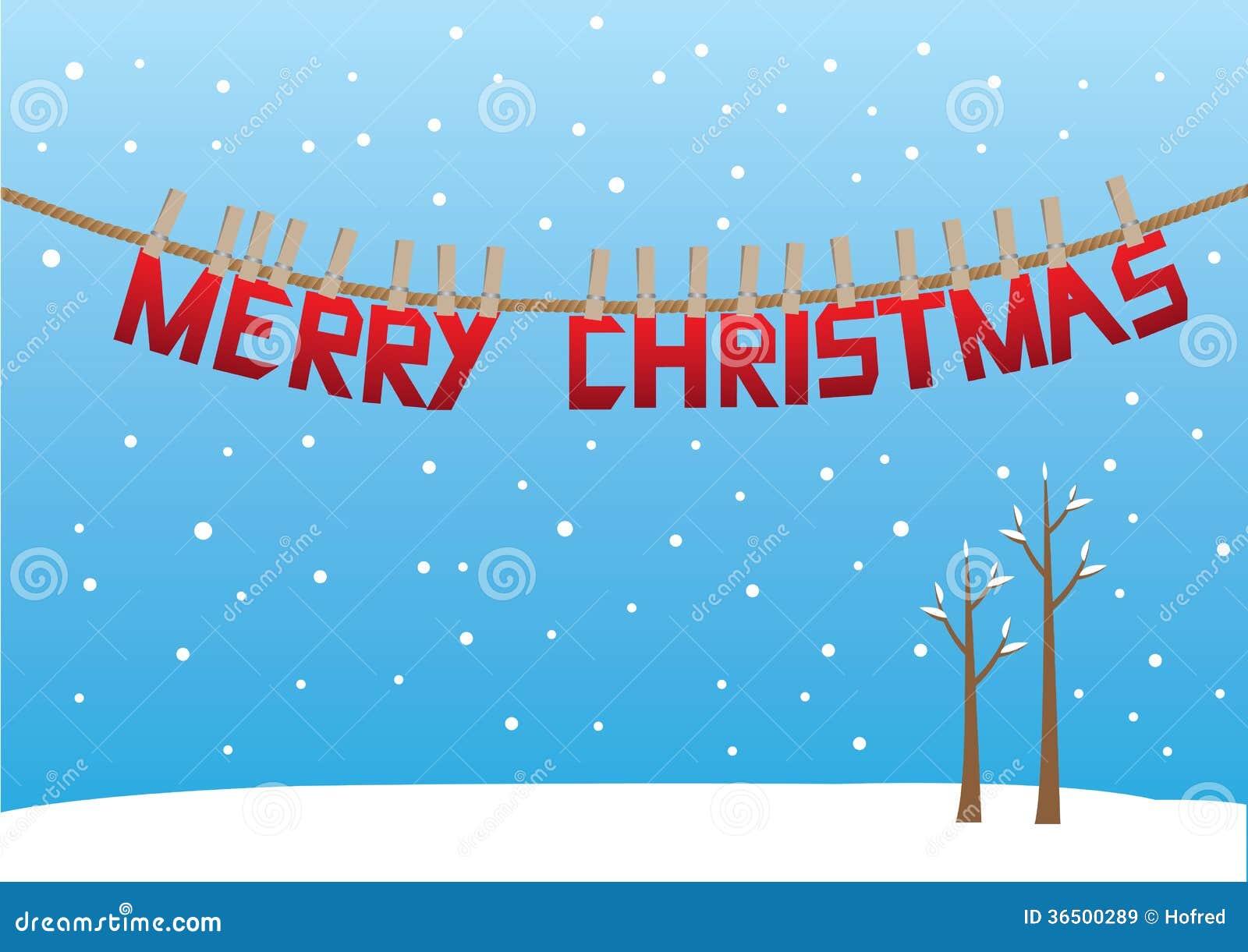 Conception de message de salutation de Noël dans la neige.