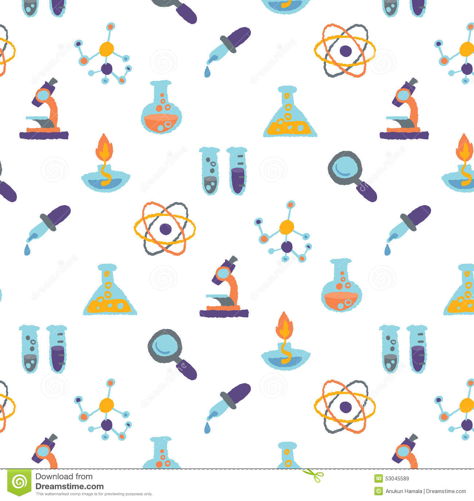 Conception De Modèle D'icônes De La Science Illustration