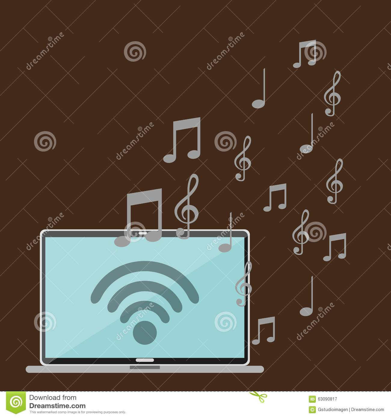 Download Conception De Mode De Vie De Musique Illustration de Vecteur - Illustration du concept, signal: 63090817