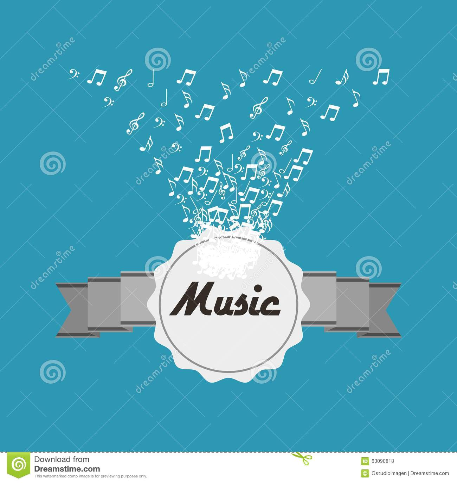 Download Conception De Mode De Vie De Musique Illustration de Vecteur - Illustration du créateur, couleur: 63090818