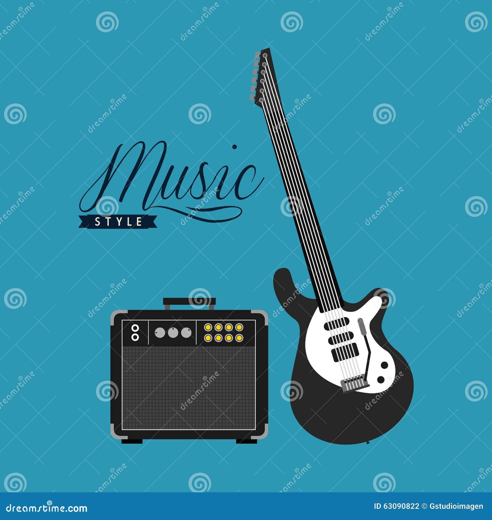 Download Conception De Mode De Vie De Musique Illustration de Vecteur - Illustration du instrument, décoration: 63090822