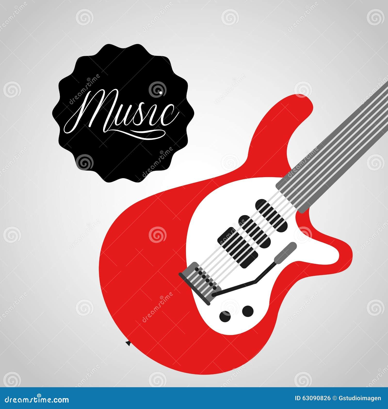 Download Conception De Mode De Vie De Musique Illustration de Vecteur - Illustration du guitare, objets: 63090826