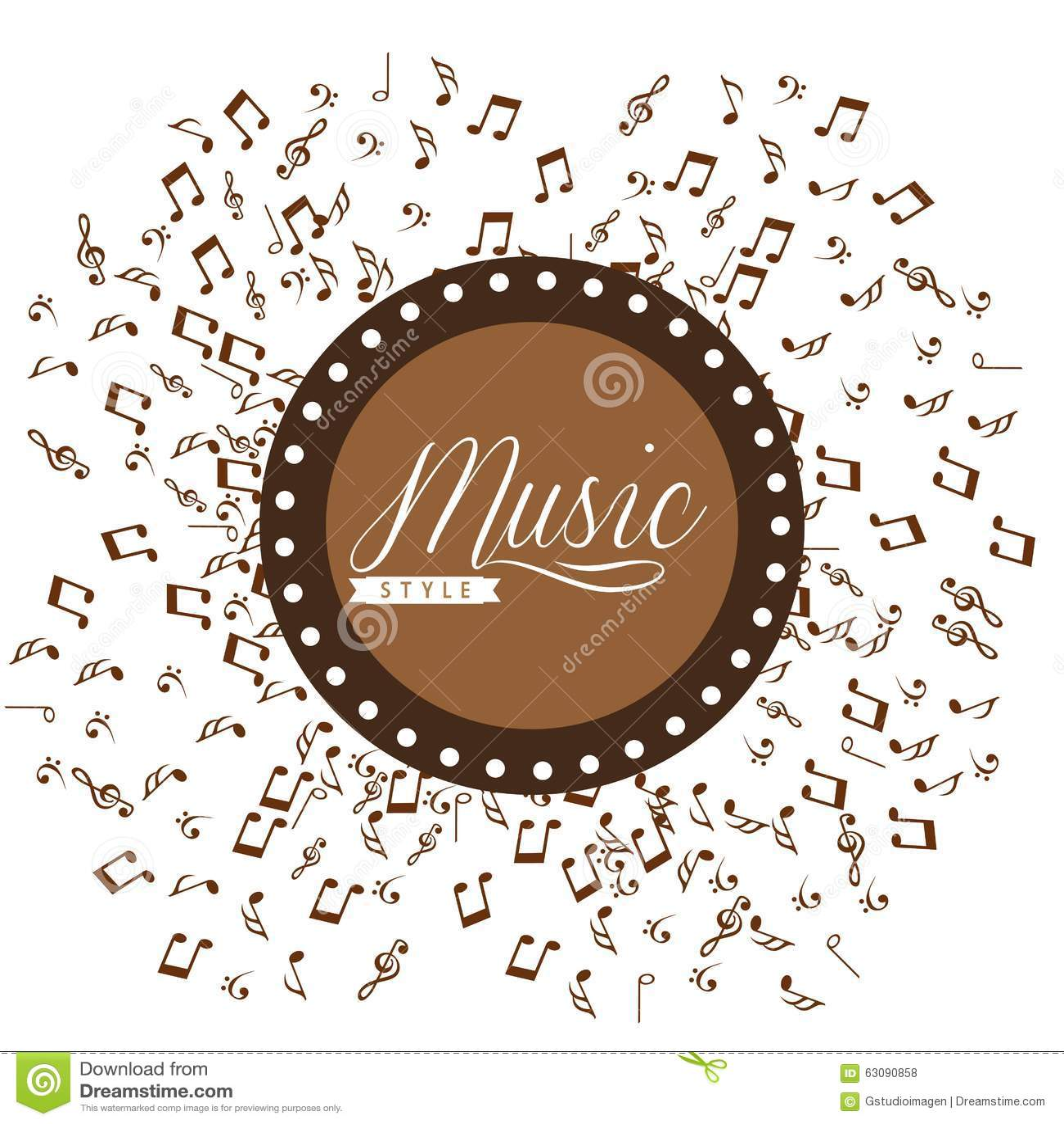 Download Conception De Mode De Vie De Musique Illustration de Vecteur - Illustration du concept, fond: 63090858