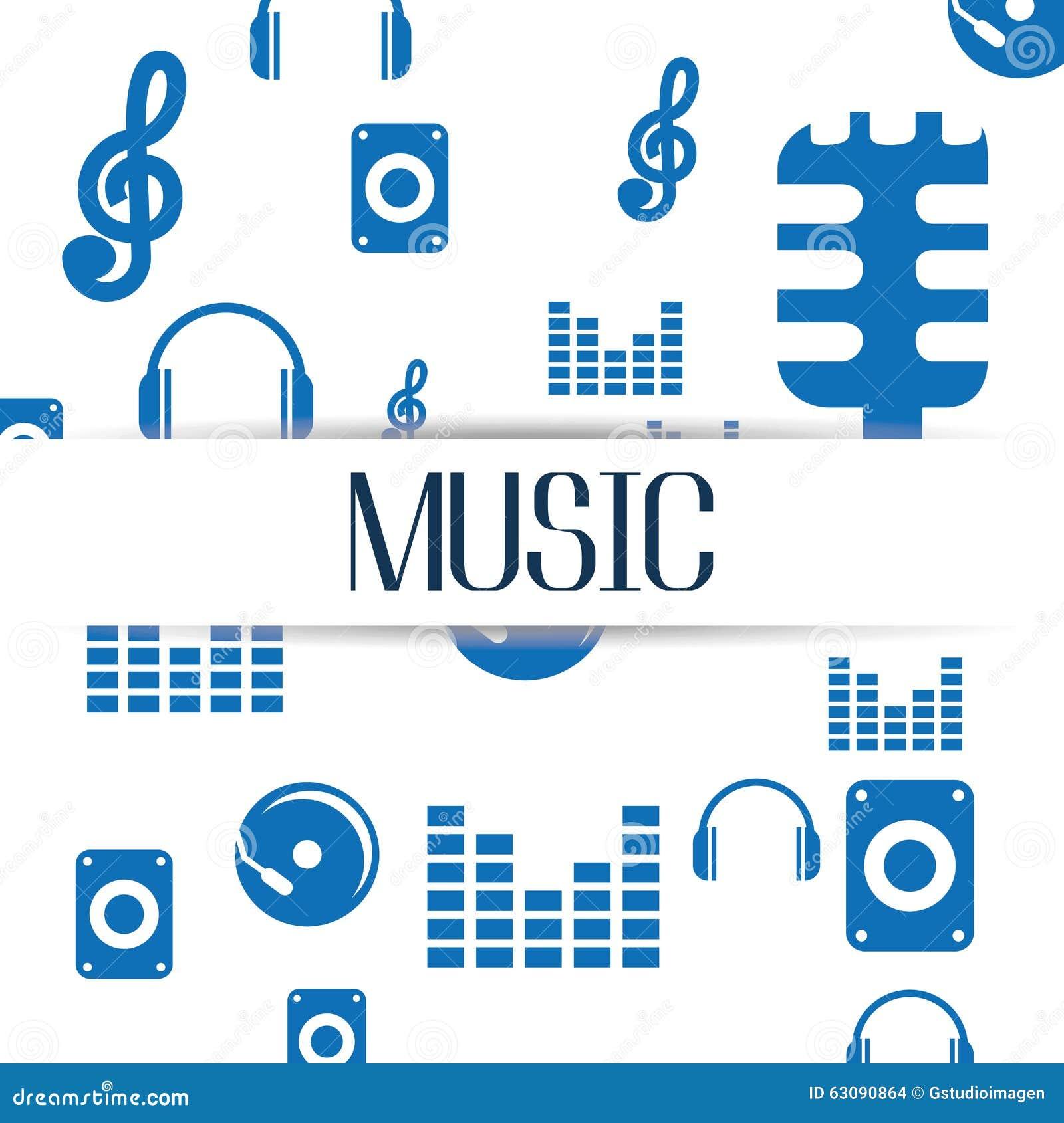 Download Conception De Mode De Vie De Musique Illustration de Vecteur - Illustration du divertissement, musical: 63090864