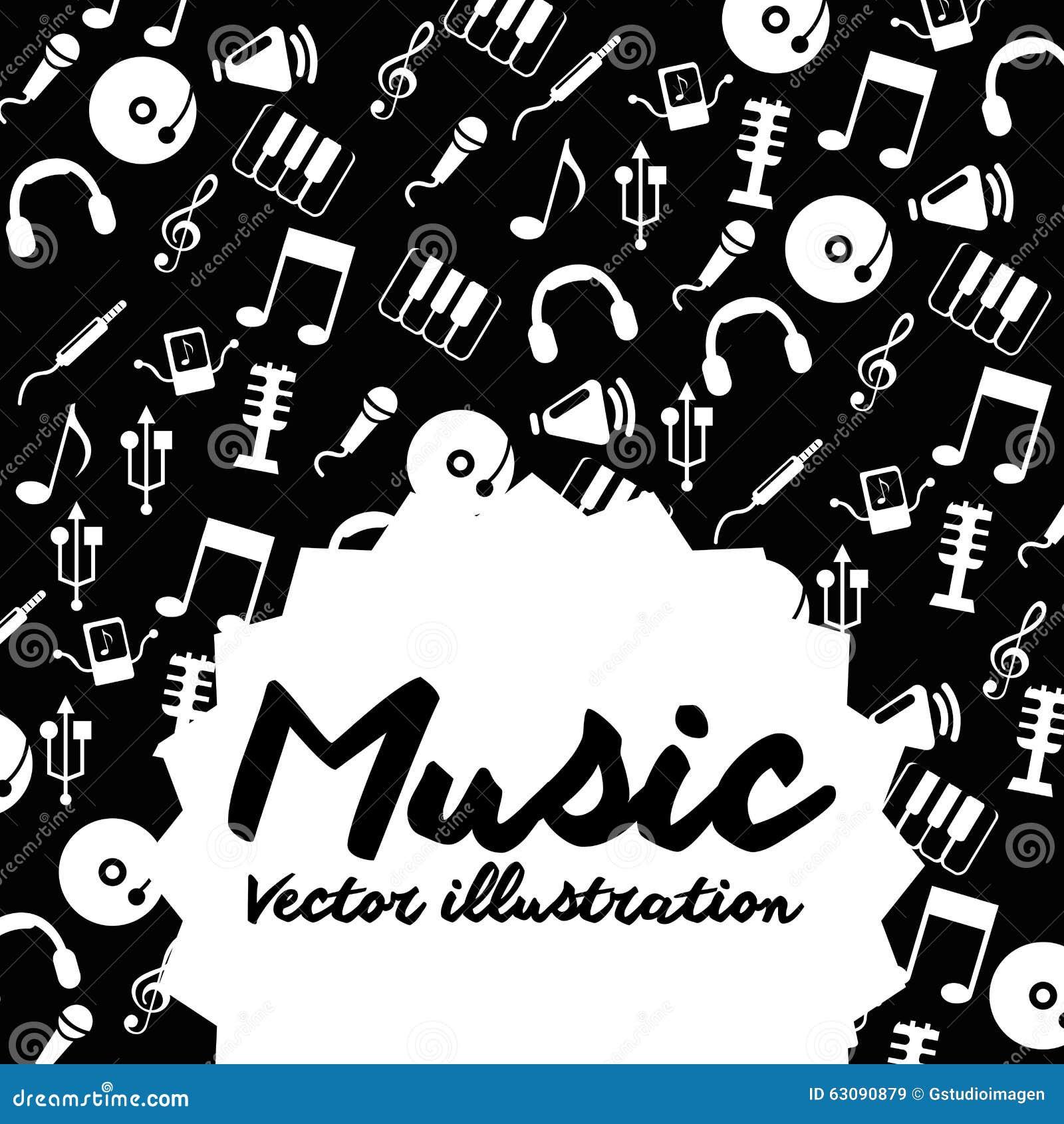 Download Conception De Mode De Vie De Musique Illustration de Vecteur - Illustration du notes, concept: 63090879