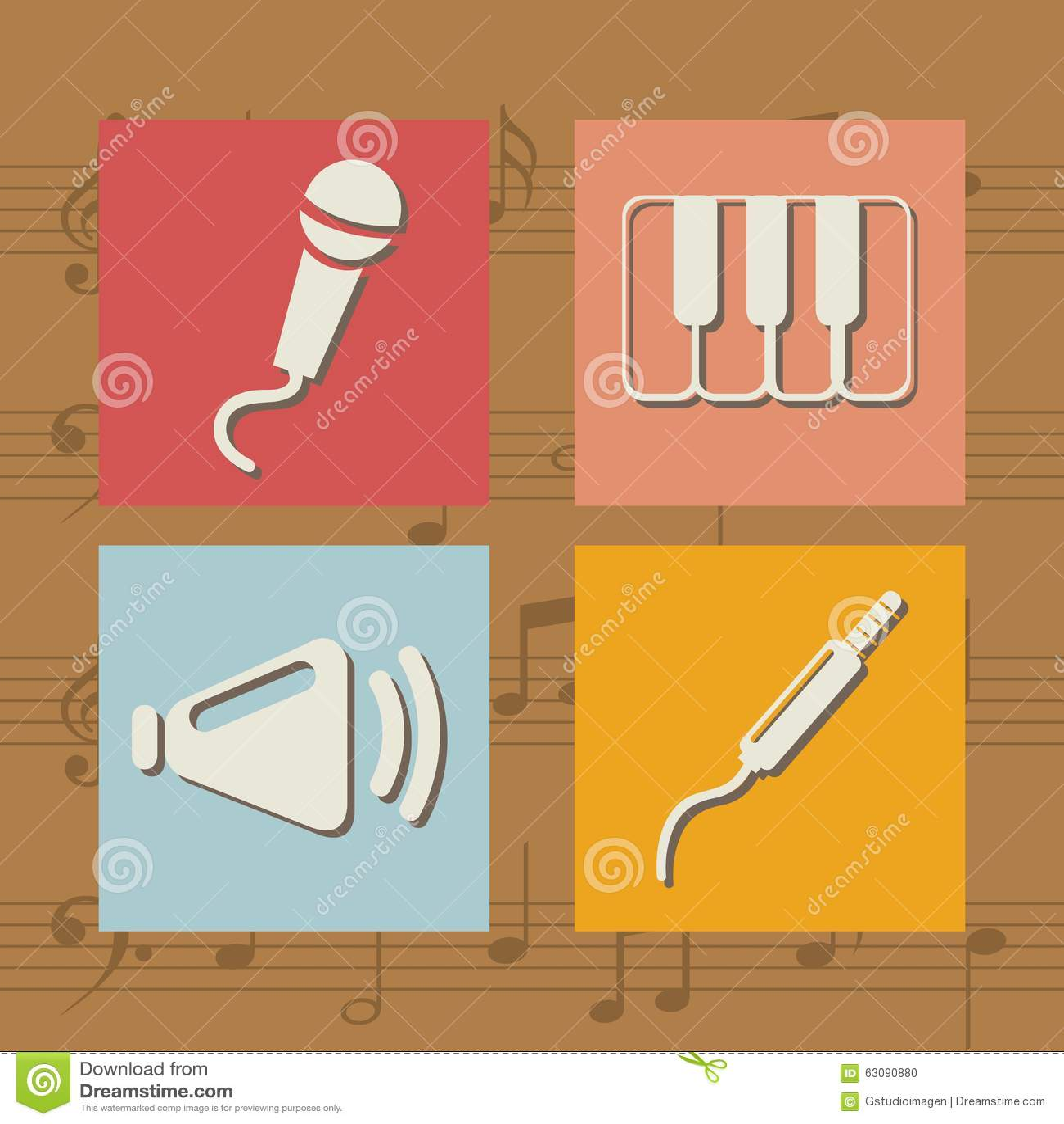 Download Conception De Mode De Vie De Musique Illustration de Vecteur - Illustration du connexion, isolement: 63090880