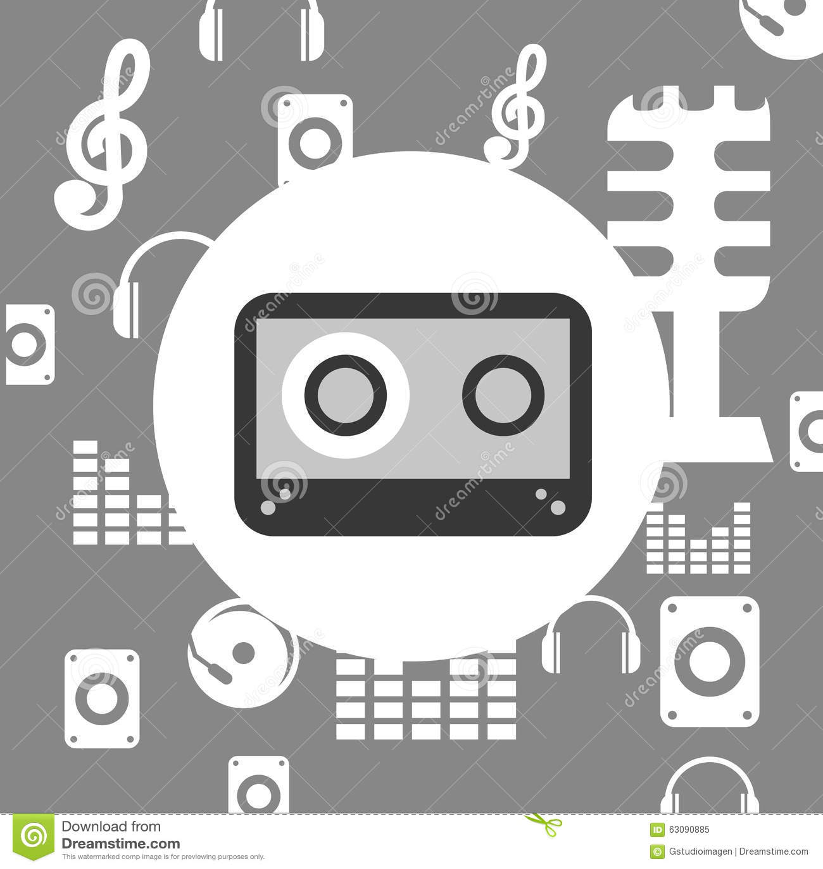Download Conception De Mode De Vie De Musique Illustration de Vecteur - Illustration du graphisme, cassette: 63090885