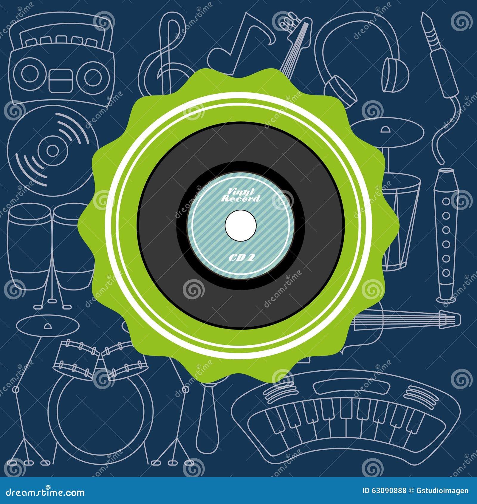 Download Conception De Mode De Vie De Musique Illustration de Vecteur - Illustration du moderne, décoratif: 63090888