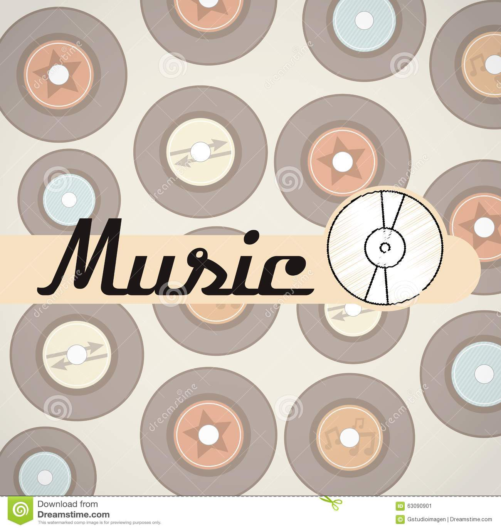 Download Conception De Mode De Vie De Musique Illustration de Vecteur - Illustration du fond, éléments: 63090901