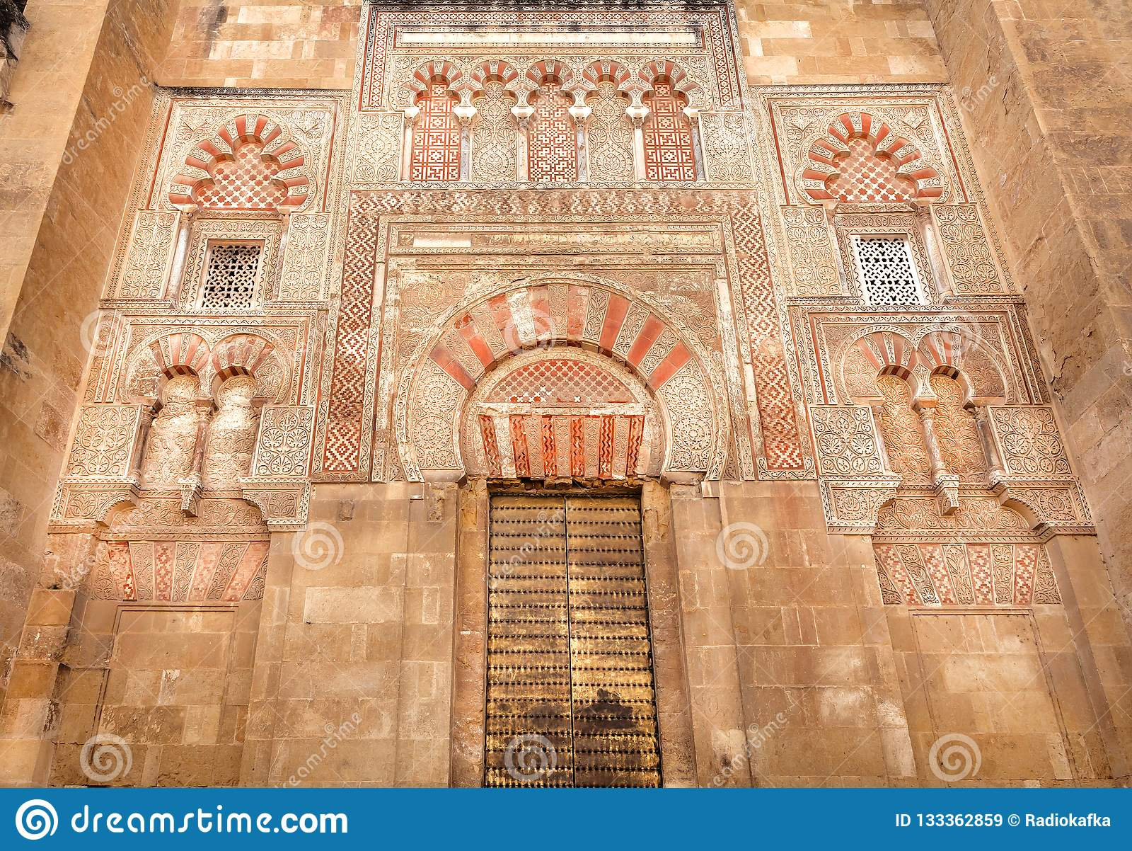 Conception de mosquée arabe du 8ème siècle, la Mezquita célèbre, Cordoue Site d héritage de l UNESCO en Espagne