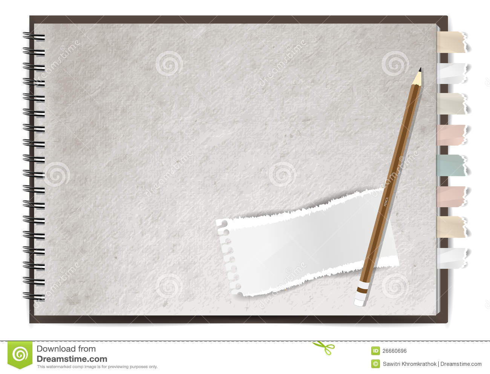 Conception De Papier De Cahier De Vecteur Image Libre De