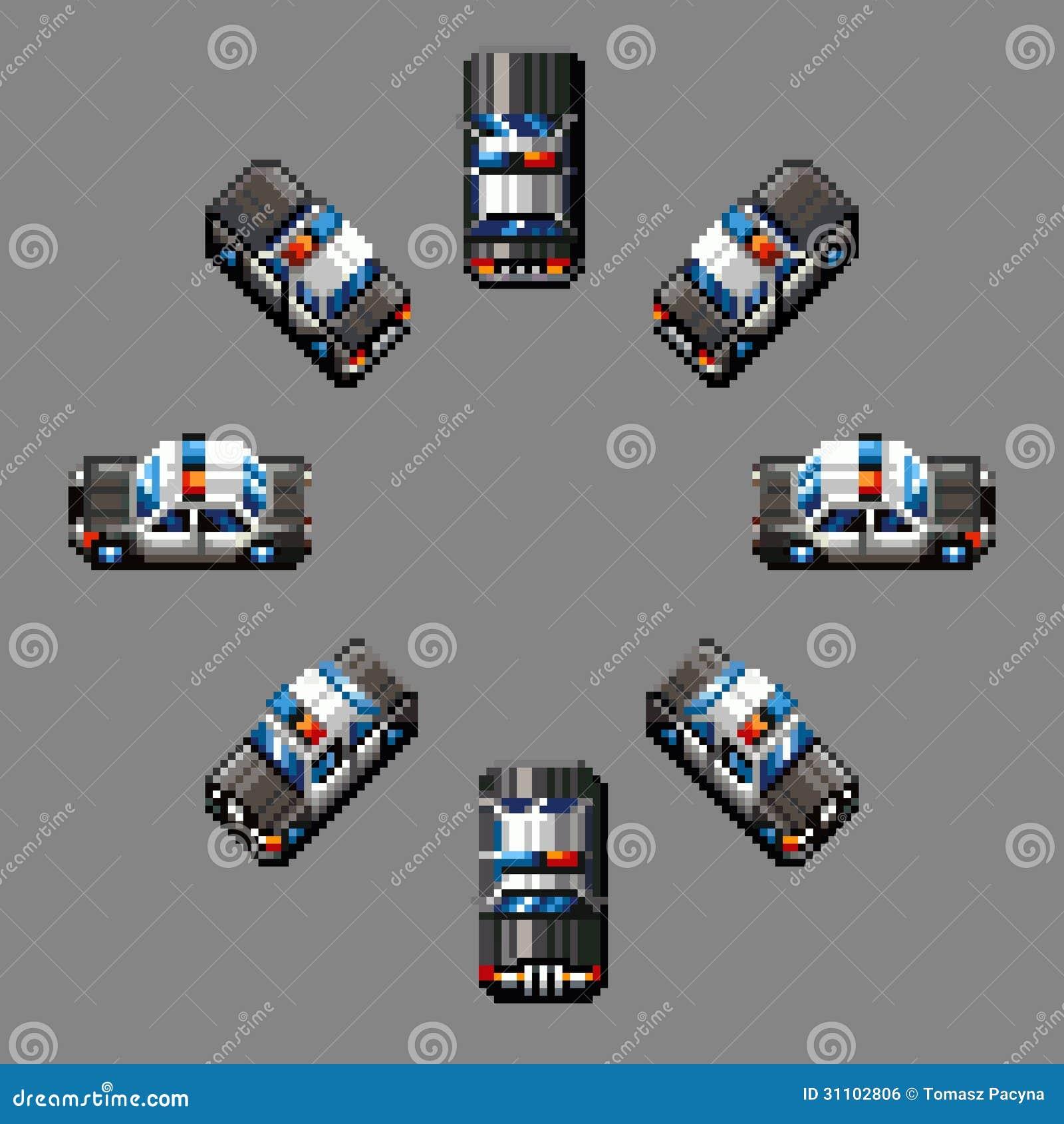 pixel art voiture de police