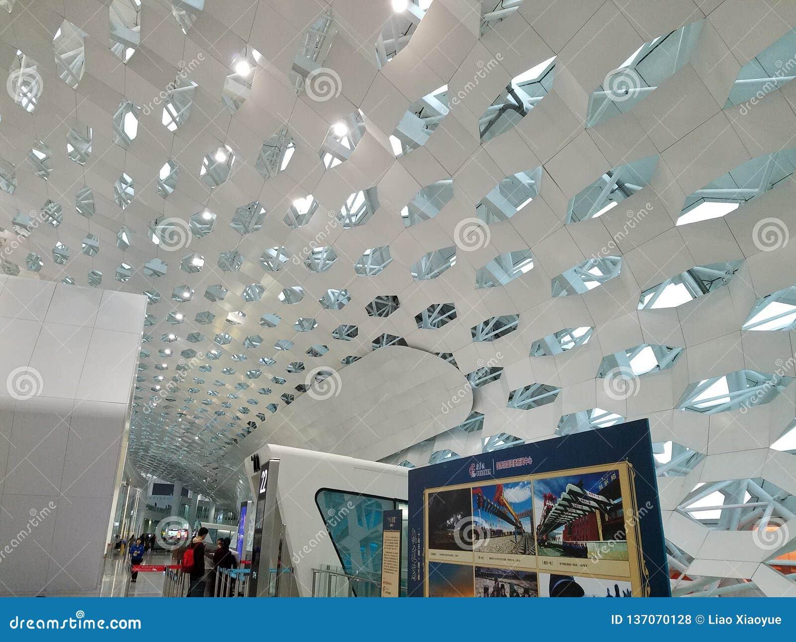 Conception de plafond d aéroport de Shenzhen en Chine