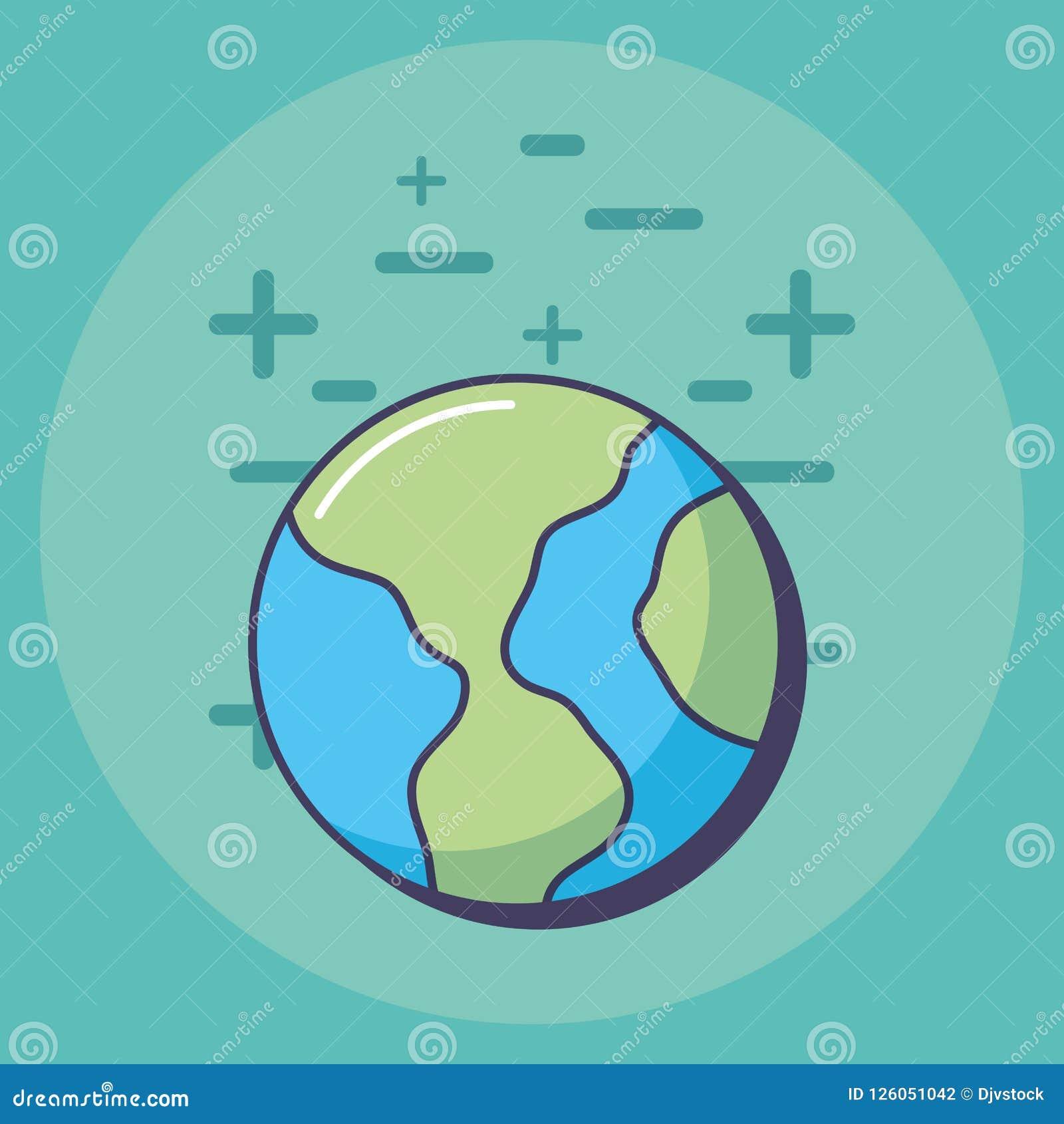 Conception De Planète De La Terre Illustration De Vecteur