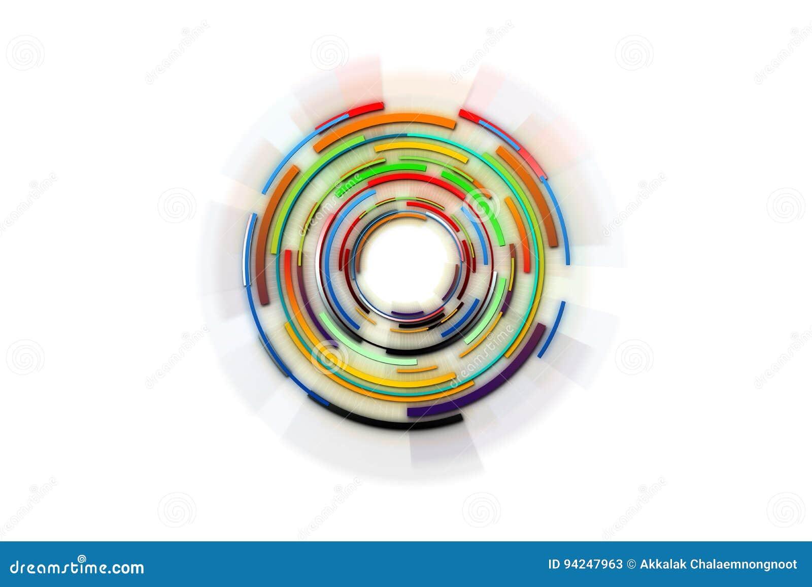 Conception de pointe de fond Fond abstrait de technologie Circl