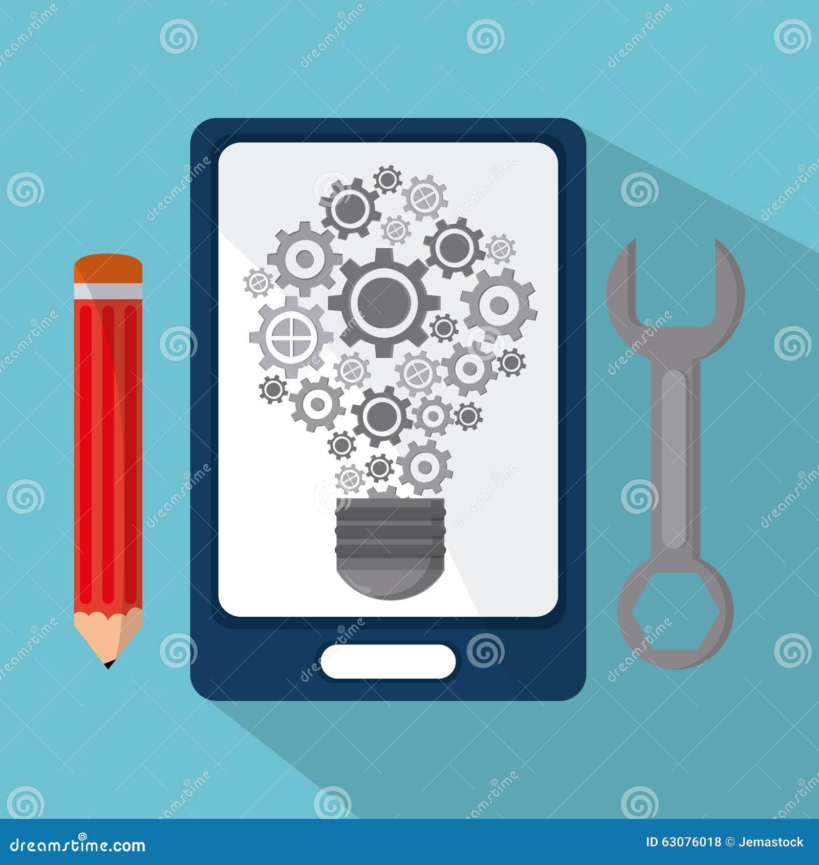 Download Conception De Processus D'icônes Illustration de Vecteur - Illustration du branché, clé: 63076018