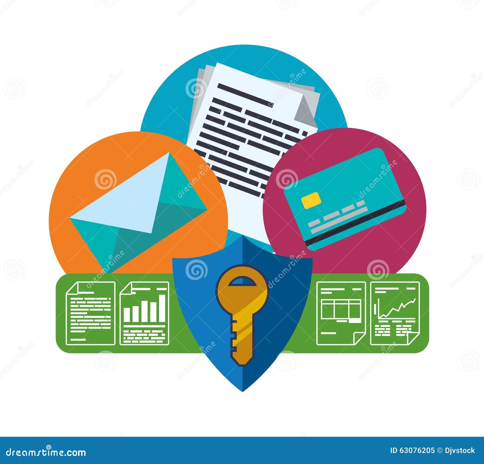 Download Conception De Protection Des Données Illustration de Vecteur - Illustration du enveloppe, politique: 63076205
