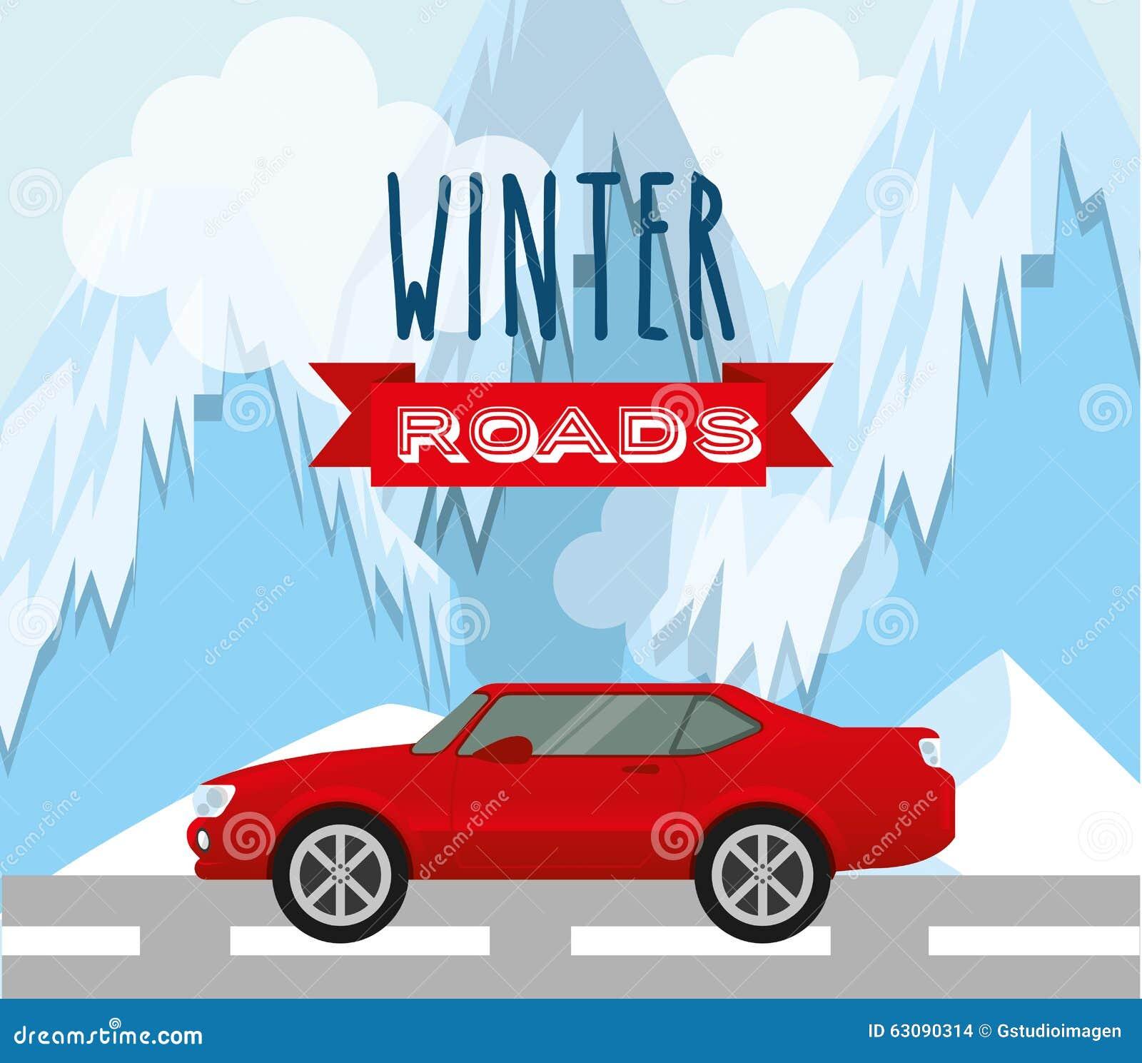 Download Conception De Routes D'hiver Illustration de Vecteur - Illustration du glace, voie: 63090314