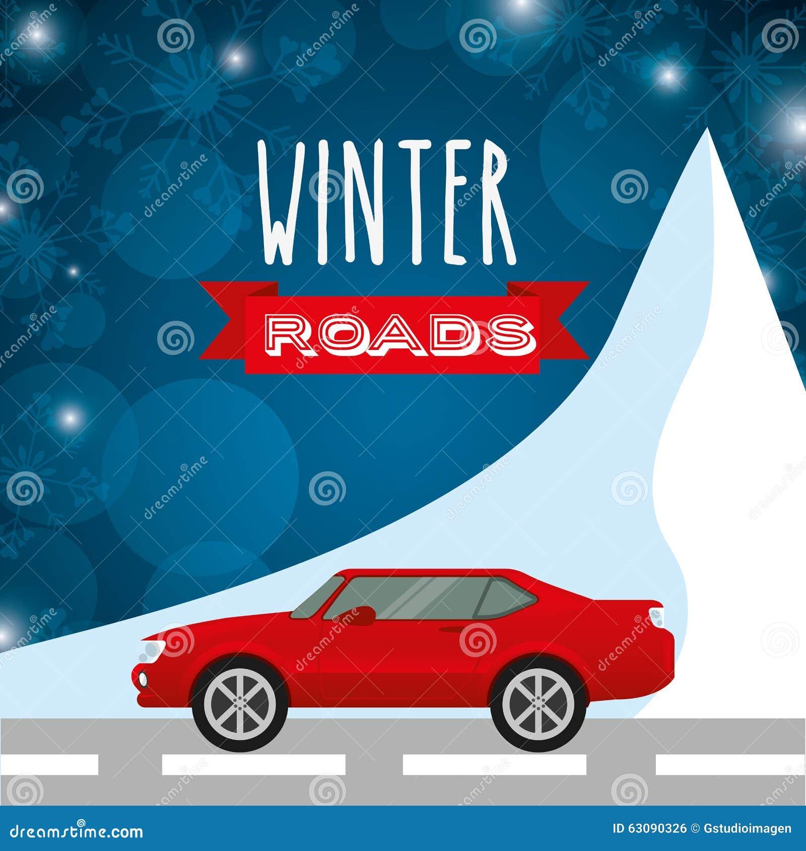 Download Conception De Routes D'hiver Illustration de Vecteur - Illustration du voie, hiver: 63090326