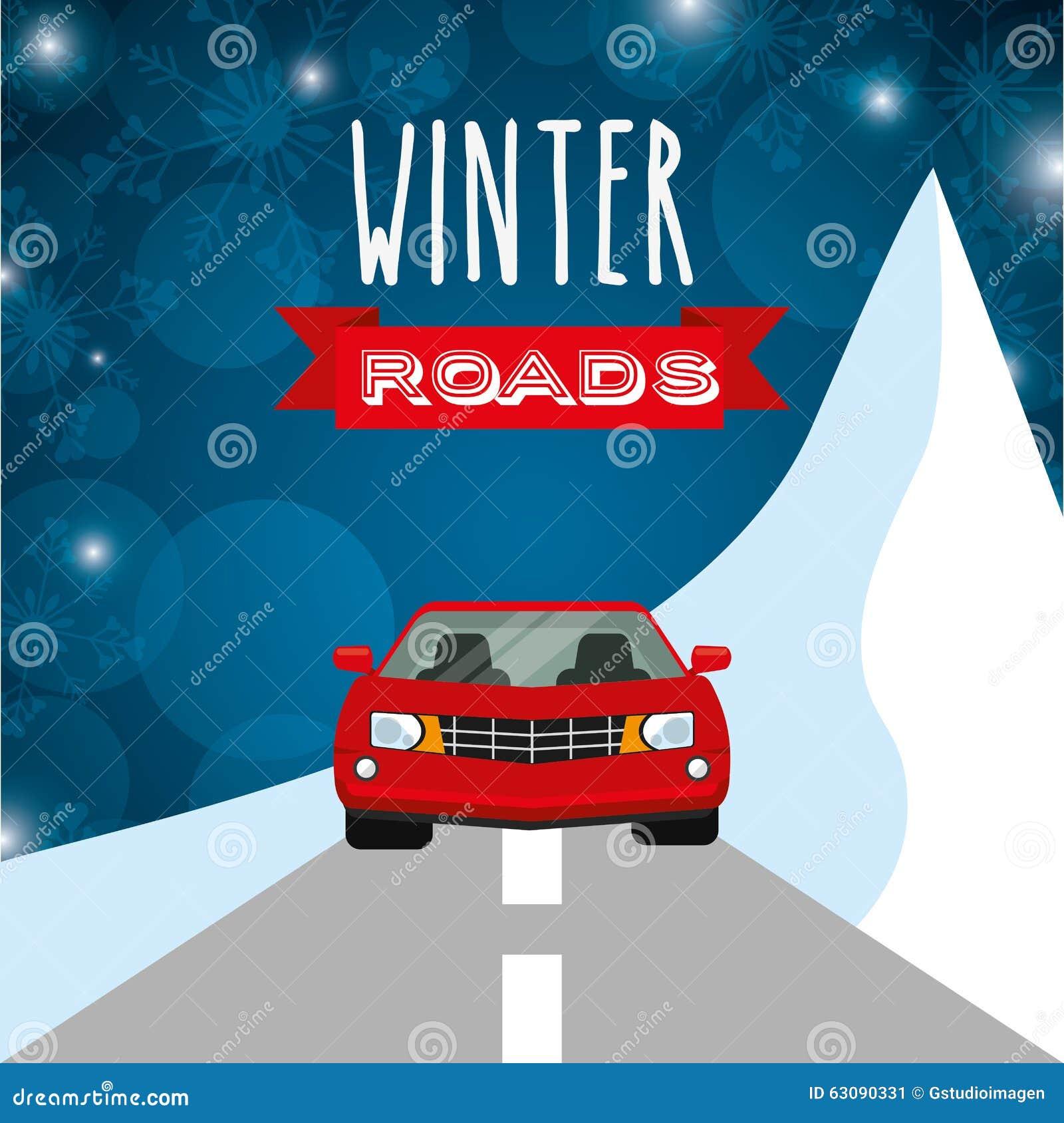 Download Conception De Routes D'hiver Illustration de Vecteur - Illustration du semelle, alerte: 63090331