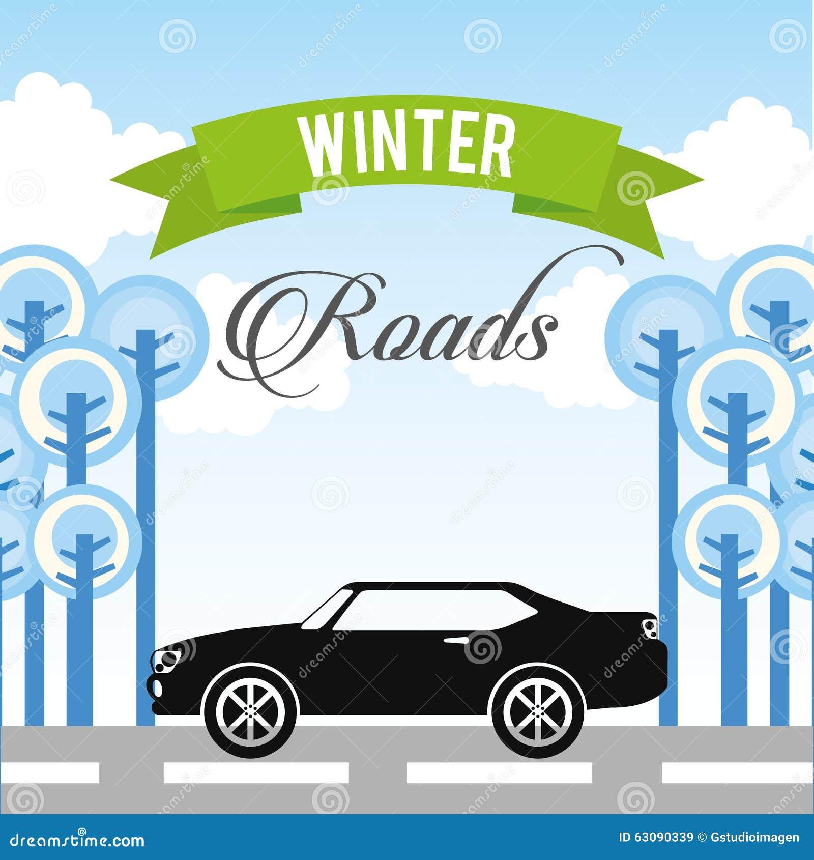 Download Conception De Routes D'hiver Illustration de Vecteur - Illustration du isolement, bande: 63090339