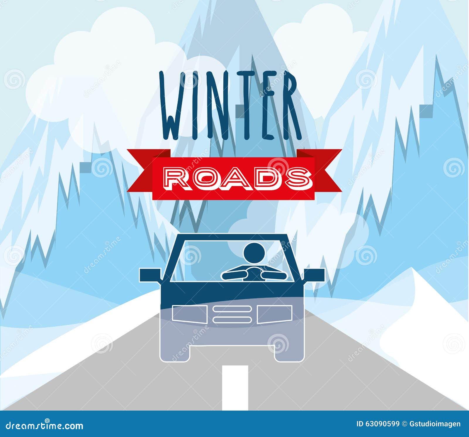 Download Conception De Routes D'hiver Illustration de Vecteur - Illustration du saison, glace: 63090599