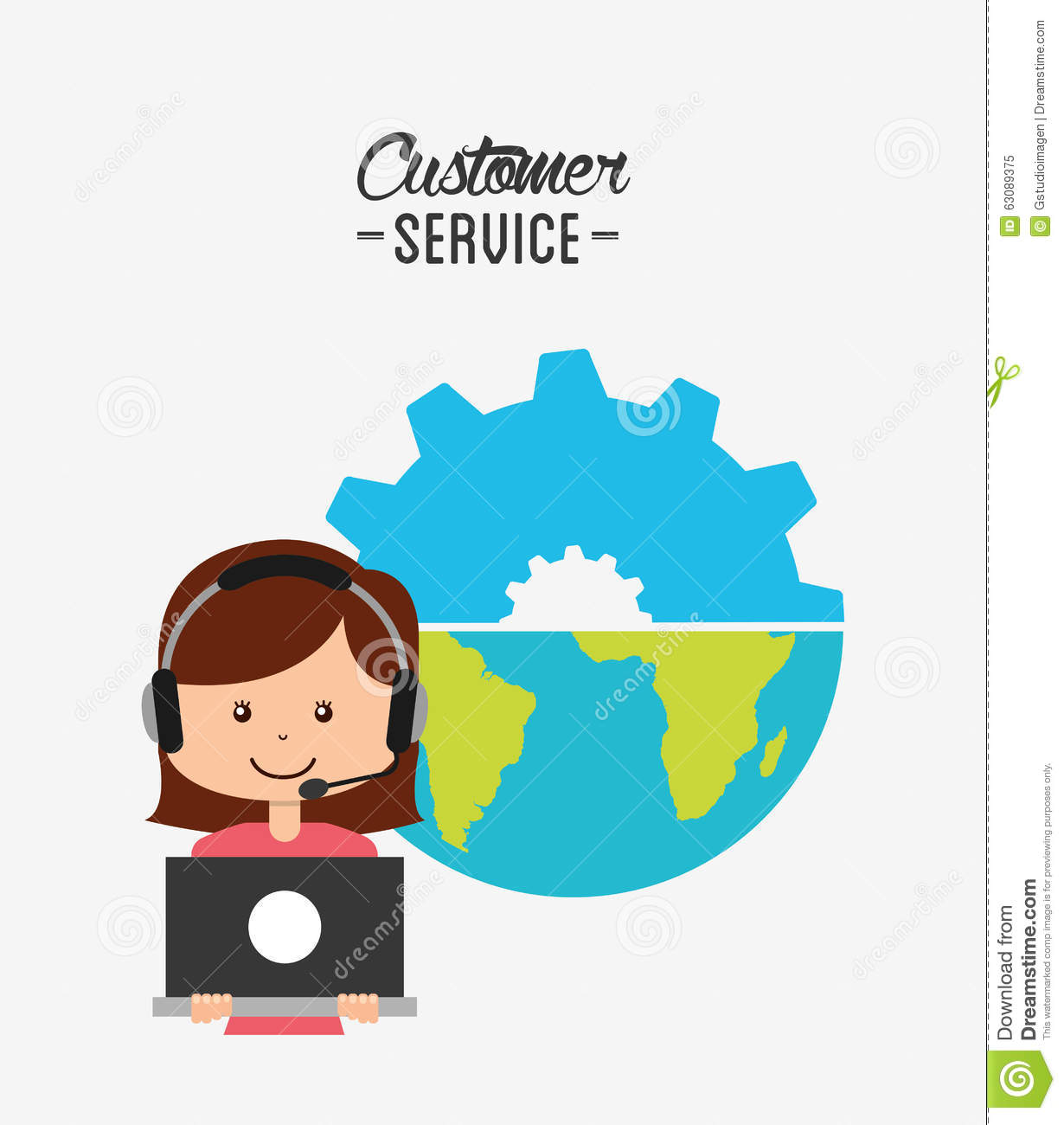 Download Conception De Service Client Illustration de Vecteur - Illustration du aide, étiquette: 63089375