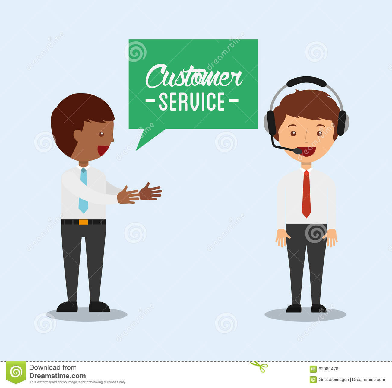 Download Conception De Service Client Illustration de Vecteur - Illustration du satisfaction, figure: 63089478