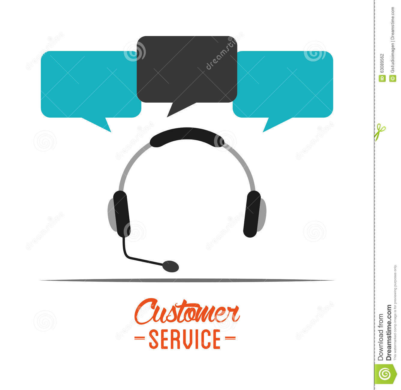 Download Conception De Service Client Illustration de Vecteur - Illustration du sceau, approbation: 63089562