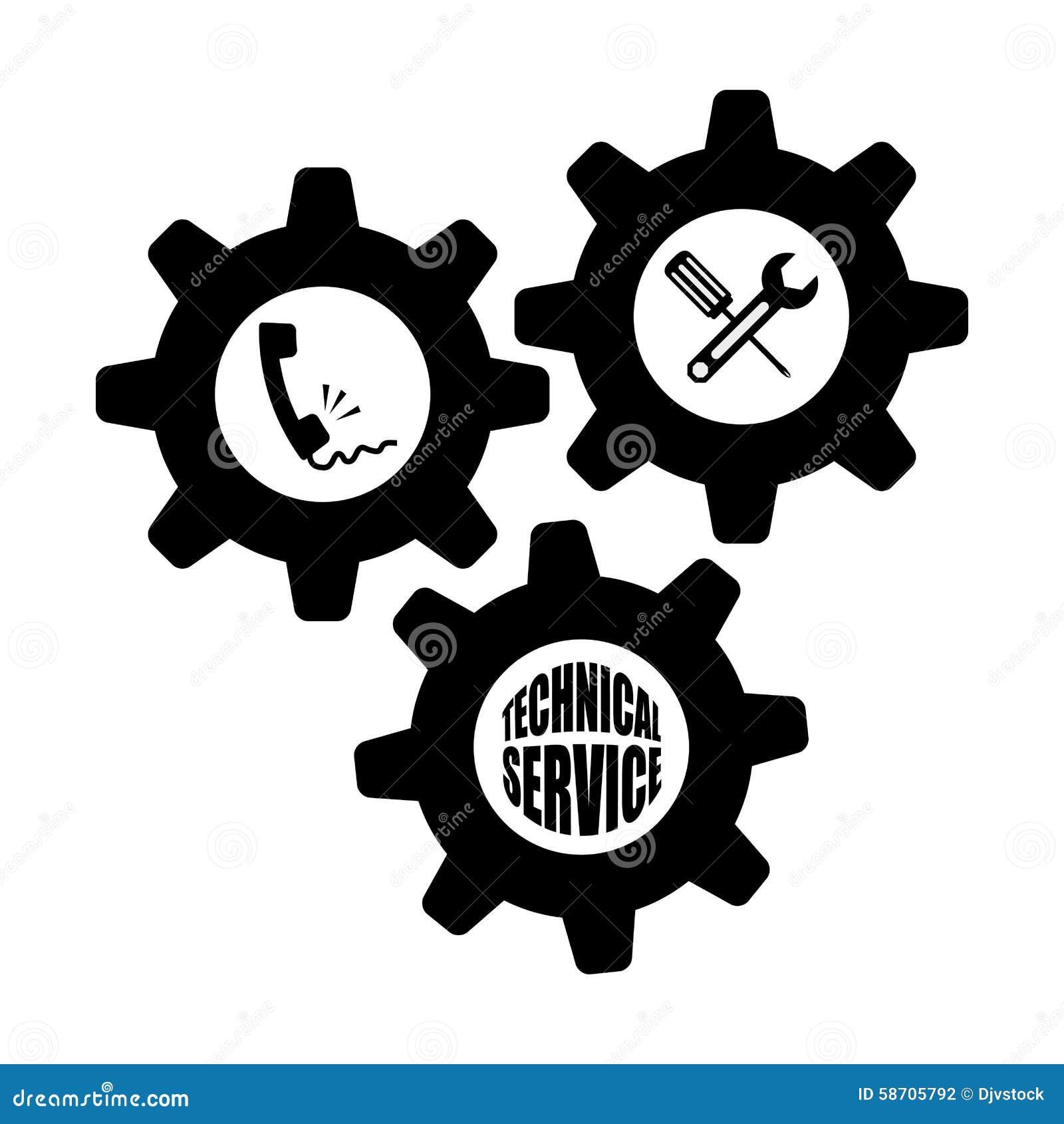 Conception De Service Technique Illustration De Vecteur