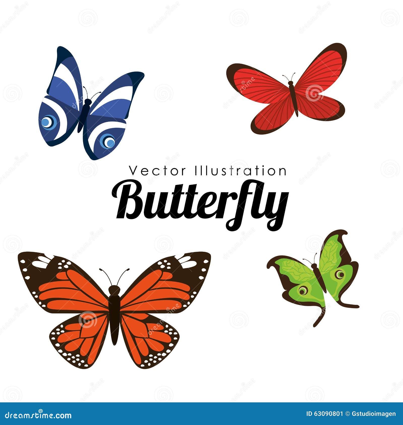 Download Conception De Silhouettes De Papillon Image stock - Image du décoration, isolement: 63090801