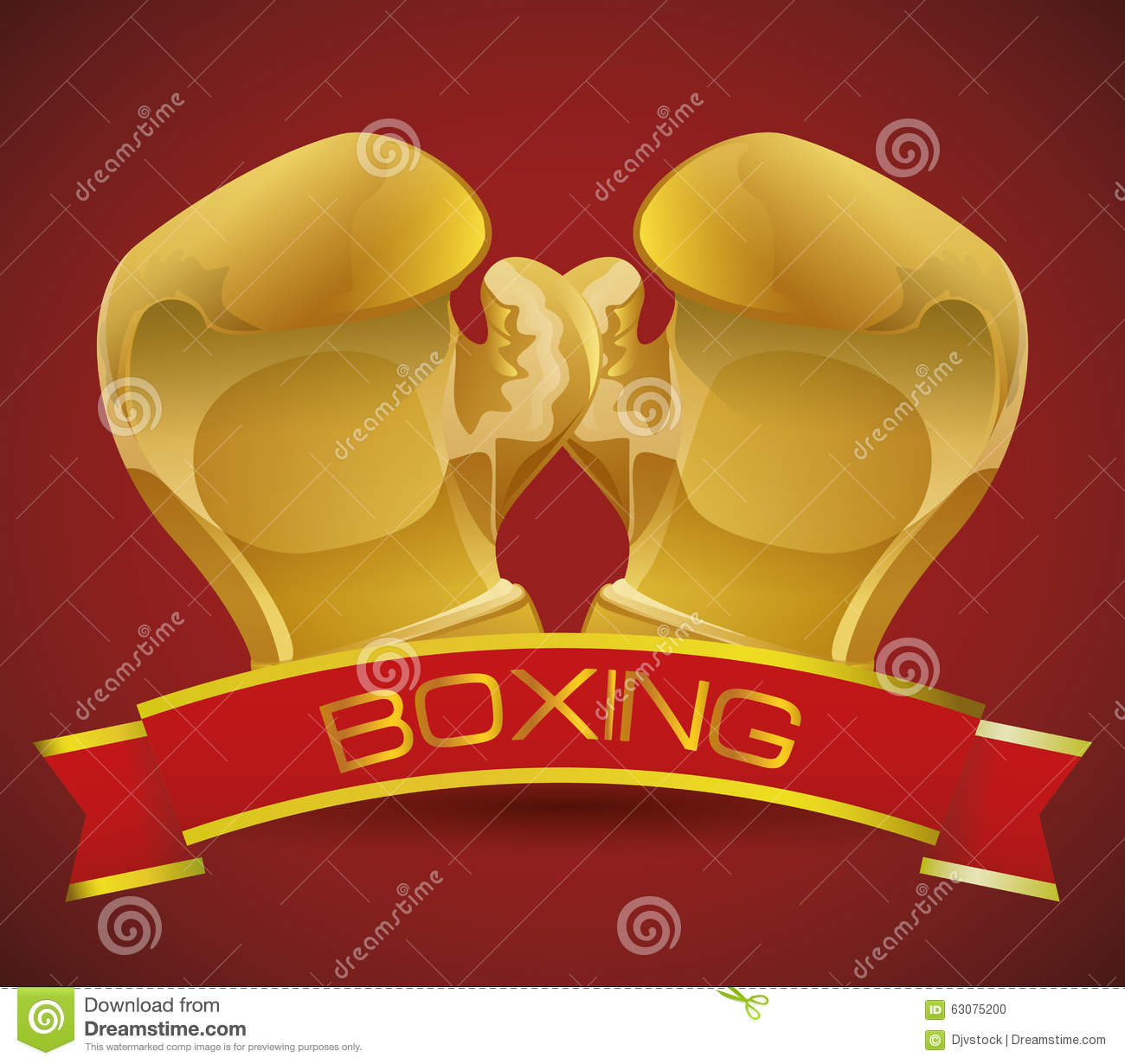 Download Conception De Sport De Boxe Illustration de Vecteur - Illustration du protection, symbole: 63075200
